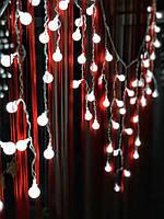 Новогодняя гирлянда штора-бахрома на окно «Яркие бусинки», фото 1