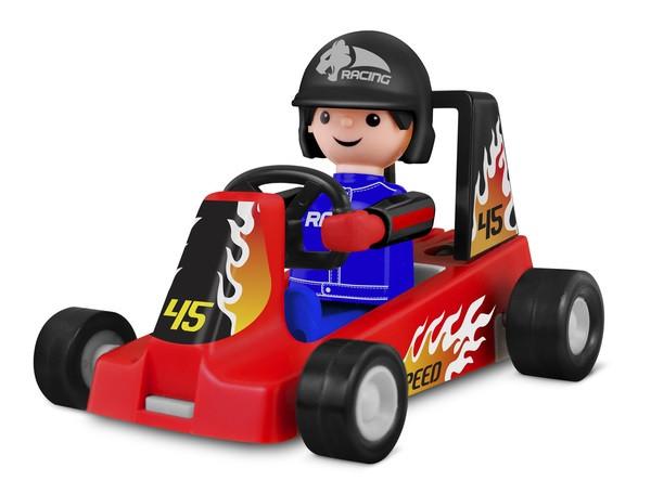 Игрушка IGRACEK Racer with kart red Гоночный карт