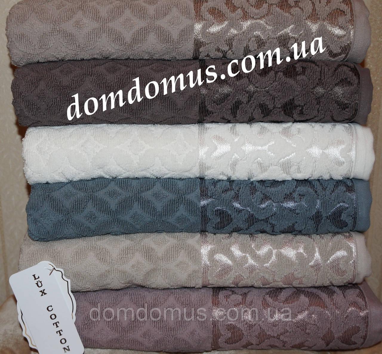 """Полотенце Lux Cotton """"Denise"""" сауна 90*150 см Philippus 6 шт./уп.,Турция"""
