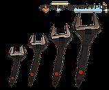 Ключ розвідний з прогумованою ручкою 250мм CrV (0-50мм) Yato YT-21657, фото 3