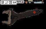 Ключ розвідний з прогумованою ручкою 150мм CrV (0-34мм) Yato YT-21655, фото 2