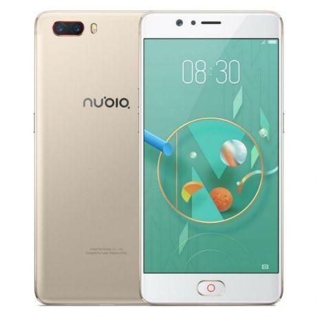 "Телефон ZTE Nubia M2 Global Gold (NX551J) / 4/64 Gb /  дисплей 5.5"" AMOLED / Snapdragon 625 / 13Мп / 3630мАч"