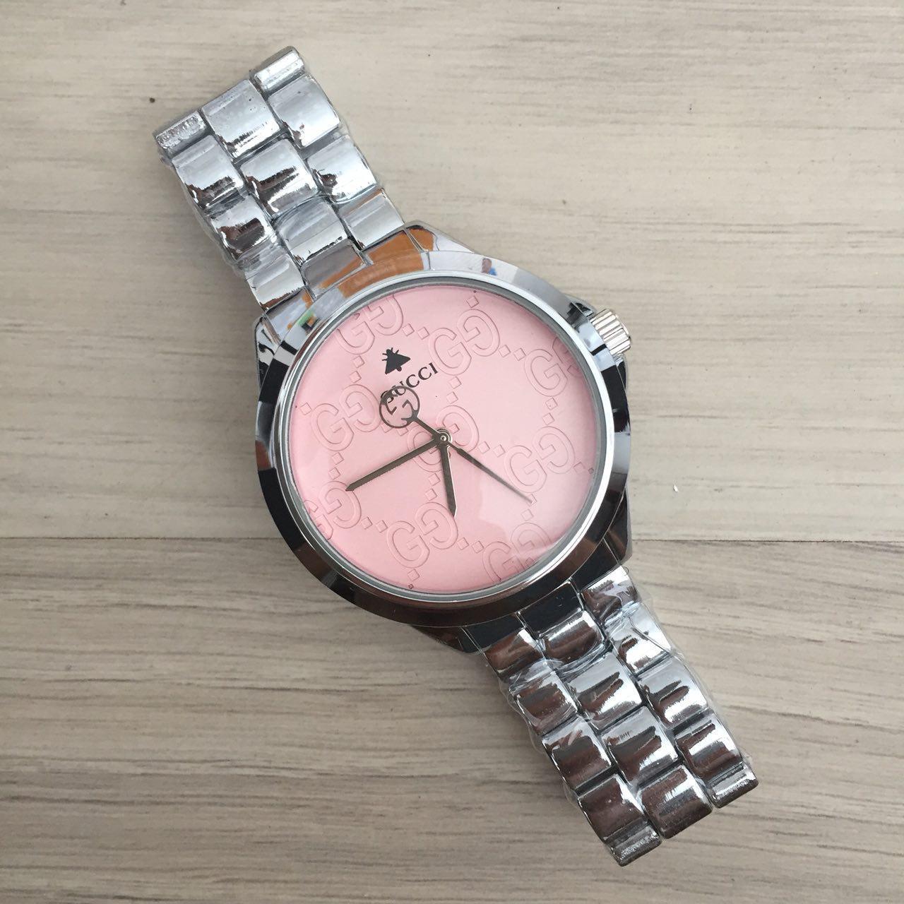 d24a081f Наручные часы Gucci 7161 GFS Silver Pink кварцевые, часы Гуччи, реплика,  отличное качество!, цена 360 грн., купить в Киеве — Prom.ua (ID#776340844)