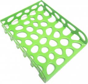 Лоток для бумаги горизонтальный Tascom Ярко-зеленый не бьющийся (Л-20334)