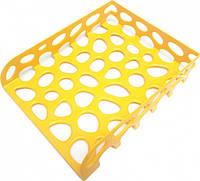 Лоток для бумаги горизонтальный Tascom Желтый не бьющийся (Л-20705)