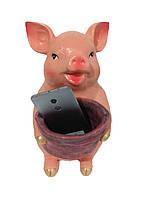 Статуэтка Свинья большая мешок красный 36 см