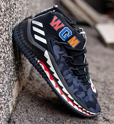 мужские кроссовки в стиле Adidas Dame 4 X Bape купить в украине и