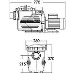 Насос Emaux EPH400 (380В, 38.5 м³/час, 4HP), фото 2