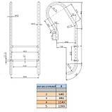 Лестница Kripsol Mixta IMX 4.D (4 ступ.), фото 3