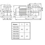 Насос AquaViva LX STP150M/VWS150M 20 м³/час (1.5HP, 220B), фото 3