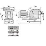 Насос AquaViva LX STP300M/VWS300M 30 м3/ч (3HP, 220В), фото 3
