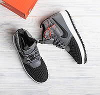 Кроссовки в стиле Nike Lunar Force 1 Duckboot High Dark Grey мужские d7556eaf3c072
