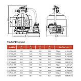 Фильтрационная установка Emaux FSP350 (4.32 м3/ч, D350), фото 2