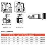 Фильтрационная установка Emaux FSP300-ST20 (3 м3/ч, D300), фото 3