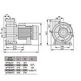 Насос AquaViva LX WTB300T/ZWE300T 60 м3/ч (4HP, 380В), фото 2