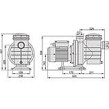 Насос AquaViva LX SWIM050T 12 м3/ч (1HP, 380В), фото 2