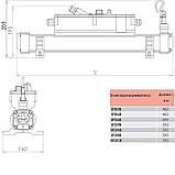 Электронагреватель Elecro Flow Line 8Т36В Titan 6 кВт 400В, фото 2