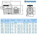 Насос Hayward SP2505XE81 EP 50 (220В, 7.5 м³/час, 0.5HP), фото 4