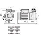 Насос AquaViva LX LP300M/OS300M 35 м³/ч (3HP, 220В), фото 3