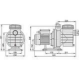 Насос AquaViva LX SWIM100M 19 м3/ч (1,5HP, 220В), фото 2