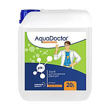 Рідкий засіб для зниження pH AquaDoctor pH Minus (Сірчана 35%) 20 л.
