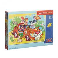 Пазлы  Крутая обезьянка и её авто , 260 элементов