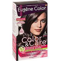 Стойкая Краска  4 Шатен   Эжен Колор  Eugene Color, Шатен №4 Колор и Уход, 125 мл, Колор и Уход