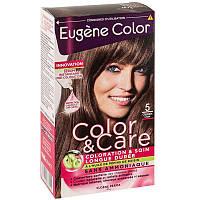 Стойкая Краска  5  Светлый Шатен     Эжен Колор  Eugene Color, Светлый Шатен №5 Колор и Уход, 125 мл, Колор и Уход