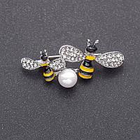Брошь Пчелки 20х45мм