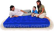 Кровать надувная 2-х местная Bestway 67003 Flocked Air Bed Queen(203х152х22 см)киев