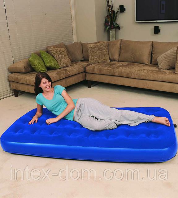 Надувной матрас-кровать Bestway Flocked    67001(188х99х22см.)КИЕВ