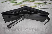Портмоне мужское кожаное классное H-13 Hassion, натуральная кожа, фото 3