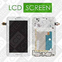 Модуль для планшета 7 Lenovo IdeaTab A3000, белый, дисплей + тачскрин, WWW.LCDSHOP.NET
