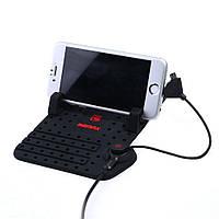 Коврик для телефона в автомобиль Remax Superflexible Car Holder, автодержатель с зарядкой