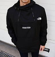 Мужская куртка анорак The North Face на флисе топ реплика