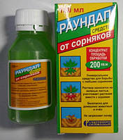 Гербицид Раундап универсальное средство для борьбы со всеми видами сорняков, флакон 100 мл