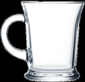 Кружка стеклянная широкая 385 мл, фото 2