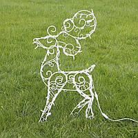 Олень новогодний (полуобъемный) 90 см, гирлянда LED 100 лампочек Гранд Презент 2211502529014