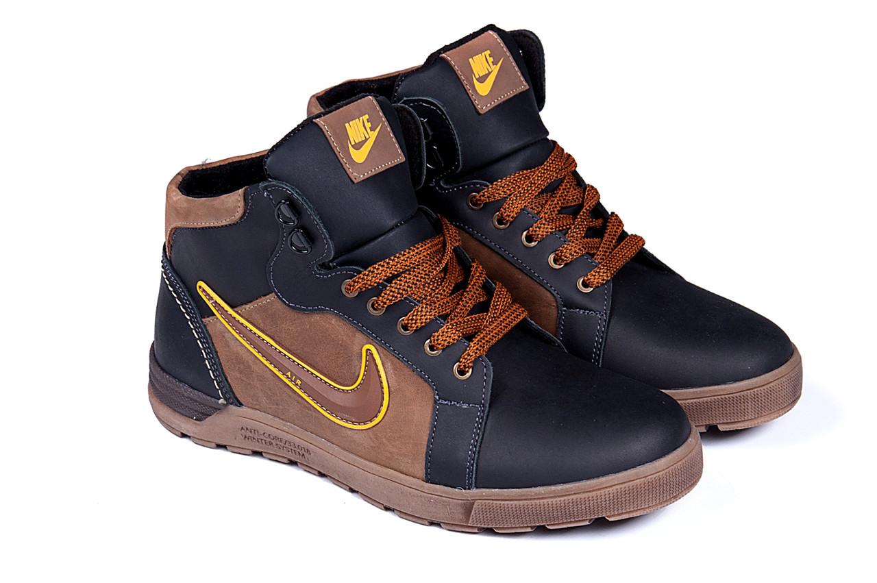 Мужские зимние кожаные ботинки Nike Anti-Core (реплика)