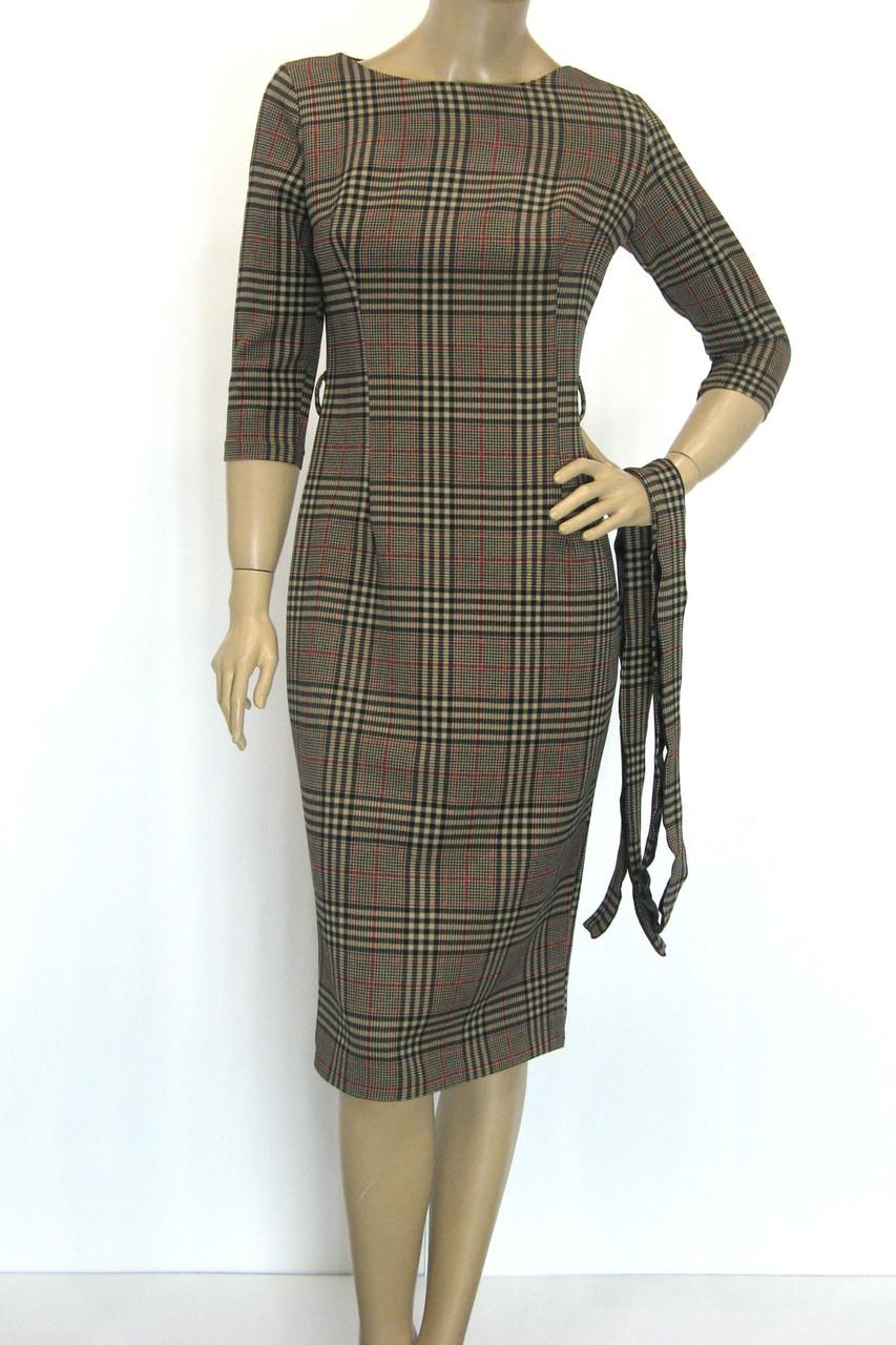 Платье в клетку Burberry сезон осень-зима