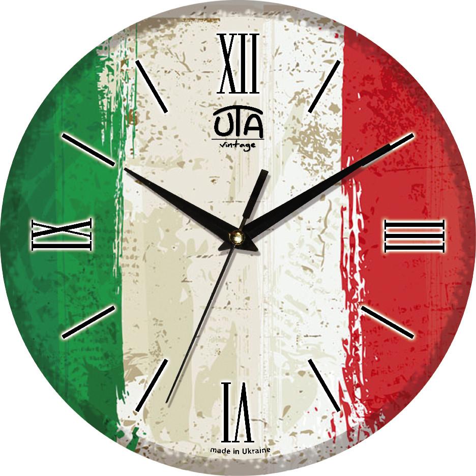 Настенные часы «Флаг Италии»