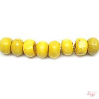 Деревянные бусины 5,5мм мелкие круглые для рукоделия цвет желтый