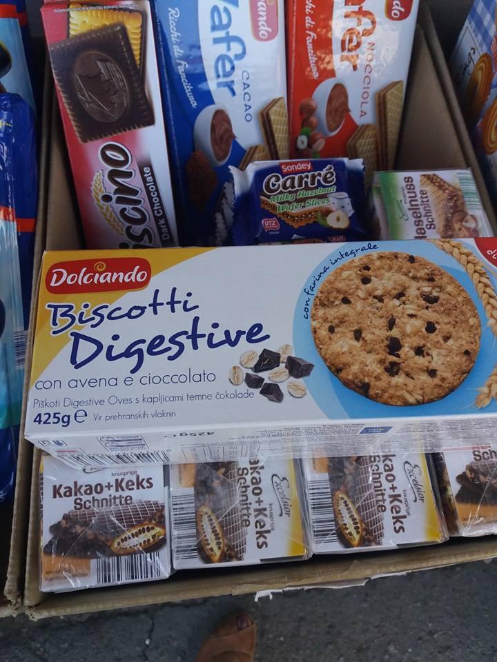 Печенье цельнозерновое - со злаками +шоколад - Biscotto Digestive Dolciando /425 г/  Италия
