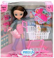 Детская кукла с корзиной в супермаркете 83025