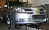Декоративно-захисна сітка радіатора Mitsubishi Outlander 2003 - бампер, фальшрадіаторная решітка, фото 4