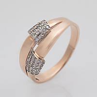 Золотое кольцо с фианитами KП1711