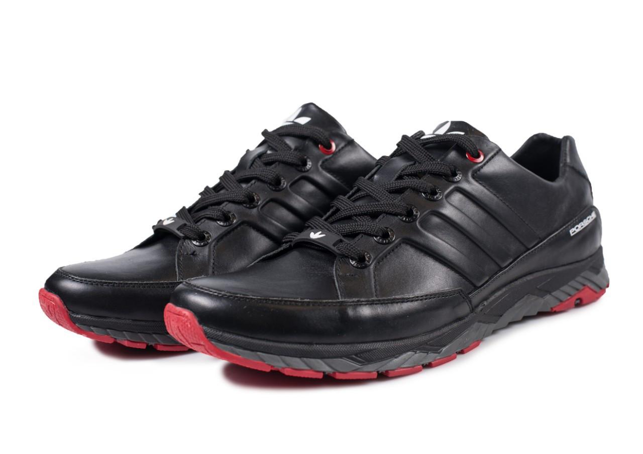 Мужские кожаные кроссовки Adidas Porsche черные  40, 41, 42, 43, 44, 45