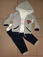 Теплый детский костюм из трехнитки.