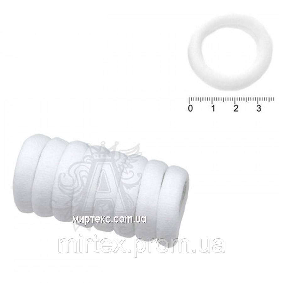 Резинка 13962 m1-0 (White_micFib_mini_50) (50шт)