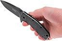 Нож складной Kershaw Cryo II (длина: 195мм, лезвие: 83мм, черное), черный, фото 9